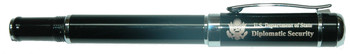 Hi-End Rollerball Pen w/ Pouch - Diplomatic Security Logo