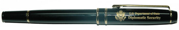 Rollerball Pen w/ Custom Velvet Presentation Box - Diplomatic Security Logo