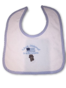 Future Diplomat Embroidered Bib