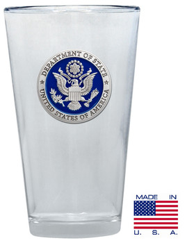 Department of State Pewter PINT GLASS