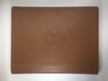 Genuine Leather Pad Holder / DOS Logo