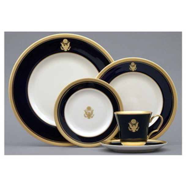 Pickard  Palace Royal Crested 5 Pieces Set/GOLD SEAL
