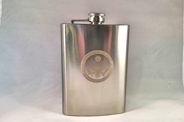 Flask 8 oz. DOS engraved