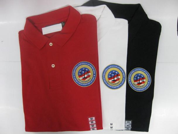 INL Logo Men's Pique Polo/Embroidered