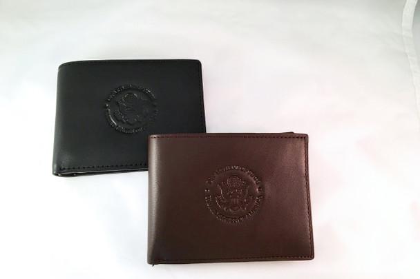 Genuine Leather Bi-Fold Wallet - DOS Logo