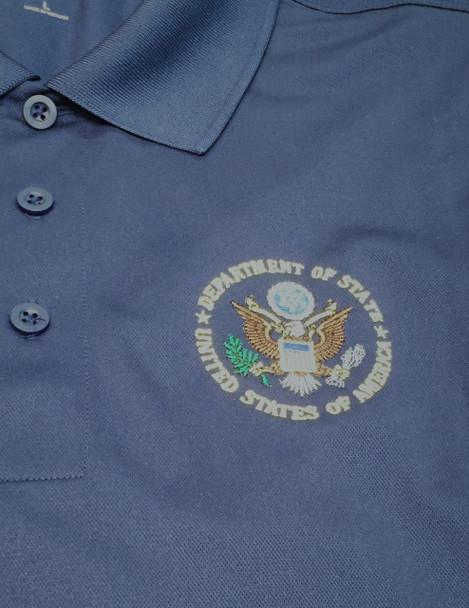 Men's  Polo Sport Shirt-Moisture wicking / DOS Logo