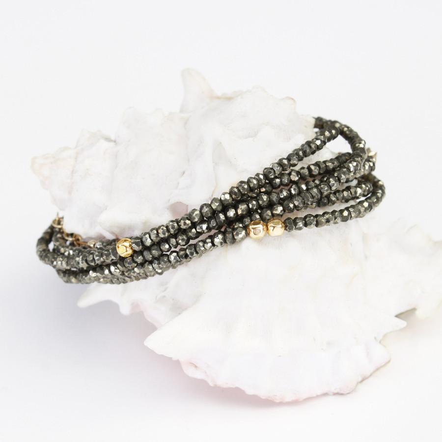 Pyrite Necklace & Bracelet