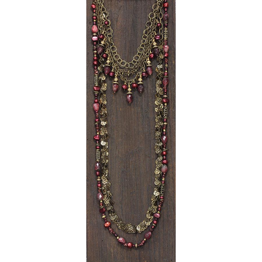Copper w/ Reds Necklace & Bracelet