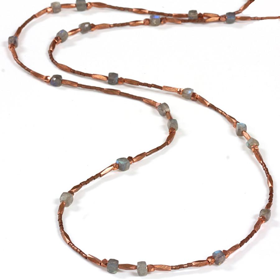 Copper w/ Labradorite Necklace & Bracelet
