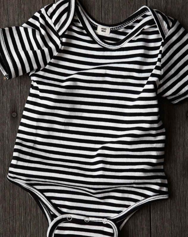 Short Sleeve Onesie (Striped)