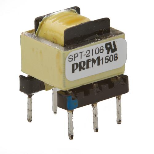 SPT-2106-UL: 600Ω:600Ω Impedance, 1:1.0523 Turns Ratio, Coupling Transformer