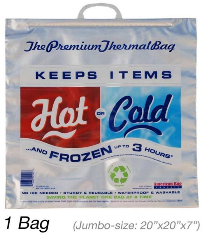 Insulated Bag   Thermal Bag   Hot Cold Bag (1 Jumbo Bag)