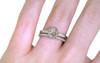 1.10 Carat Light Salt and Pepper Diamond Ring in White Gold