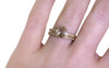 .77 Carat Champagne Diamond Ring in Yellow Gold