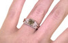 1.06 Carat Dark Champagne Diamond Wedding Set in Rose Gold