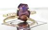 2.5 Carat Hand-Cut Purple Sapphire Ring in Yellow Gold