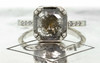 MAROA Ring in White Gold with 1.60 Carat Cocoa and Pepper Diamond