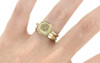 MAROA Ring in Yellow Gold with 1.21 Carat Champagne/White Diamond