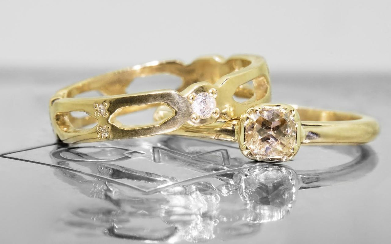 .45 Carat Champagne Diamond in Yellow Gold