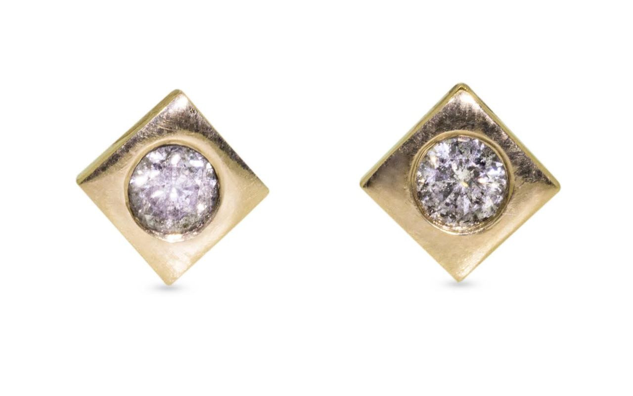 CM Gray Diamond Studs