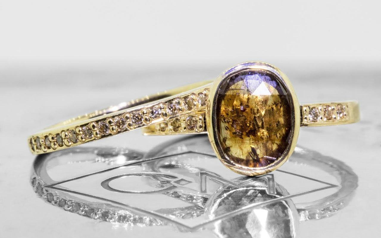 1.20 Carat Cocoa Diamond Ring in Yellow Gold