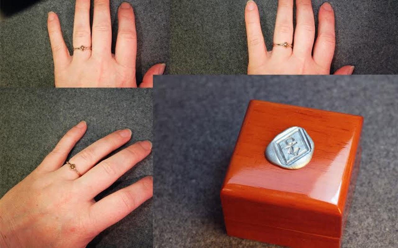 .39 Carat Dark Honey Diamond Ring in Yellow Gold