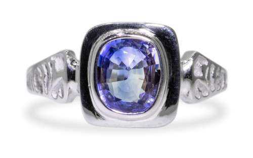 Limited Edition Sapphire Ring in White Gold