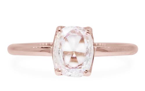1 Carat Translucent White Diamond in Rose Gold