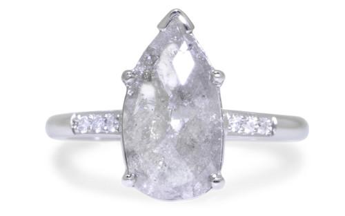 1.28 Carat Light Gray Diamond Ring in White Gold