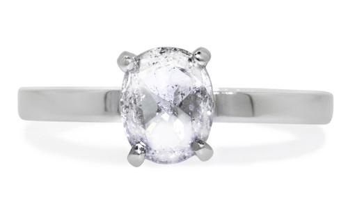.75 Carat Salt and Pepper Diamond Ring in White Gold