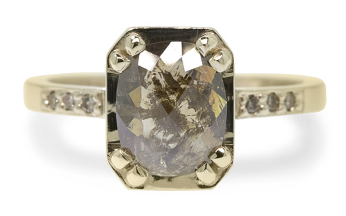 MAROA Ring in Yellow Gold with 1.58 Carat Cocoa Diamond