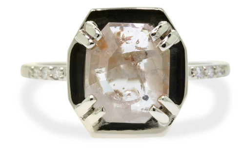 AIRA Ring in White Gold with 1.62 Carat Champagne/White Diamond