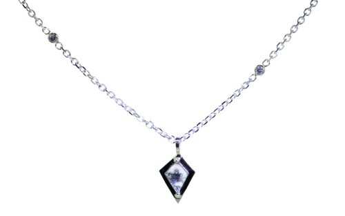 TOBA Necklace in White Gold with .46 Carat Salt and Pepper Diamond