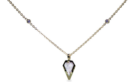 TOBA Necklace in Yellow Gold with .54 Carat Light Gray Diamond
