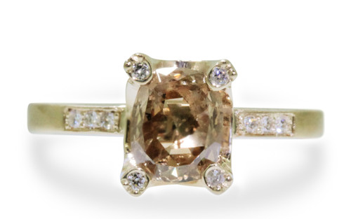 1.20 Carat Champagne Diamond Ring in Yellow Gold