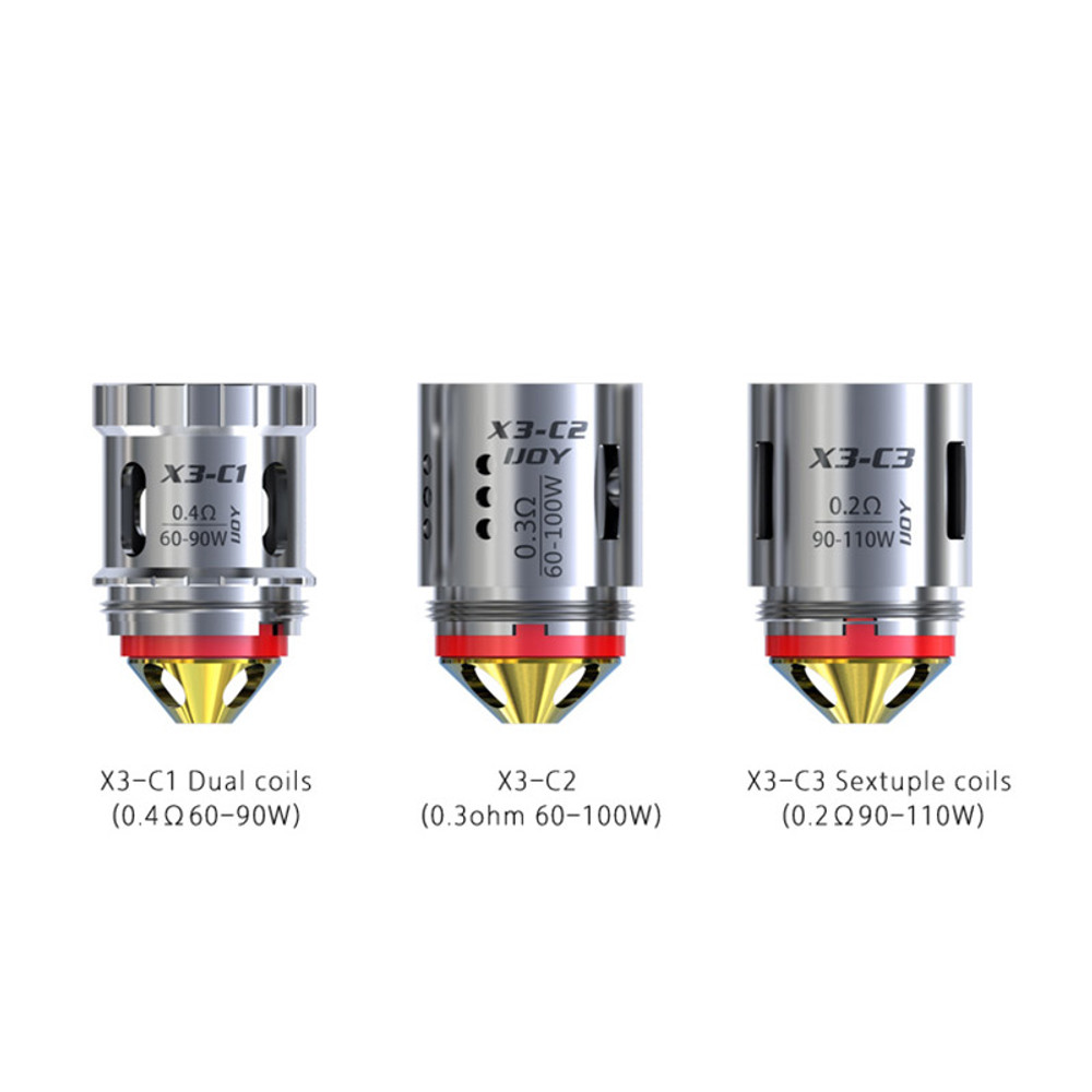 Captain X3 Coils (3 Pack) by iJoy