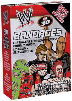 WWE Adhesive Bandages 30 piece