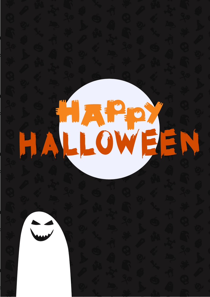 """Happy Halloween - SPECIAL DEAL MIRROR (24 X 47) inches - - Shipping Additional - - 7"""" smaller than a large !"""