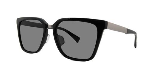 C1 Black w/ Solid Gray Polarized Lenses
