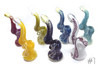 Imported Glass Large Assorted Inside Out (I/O) Bubbler