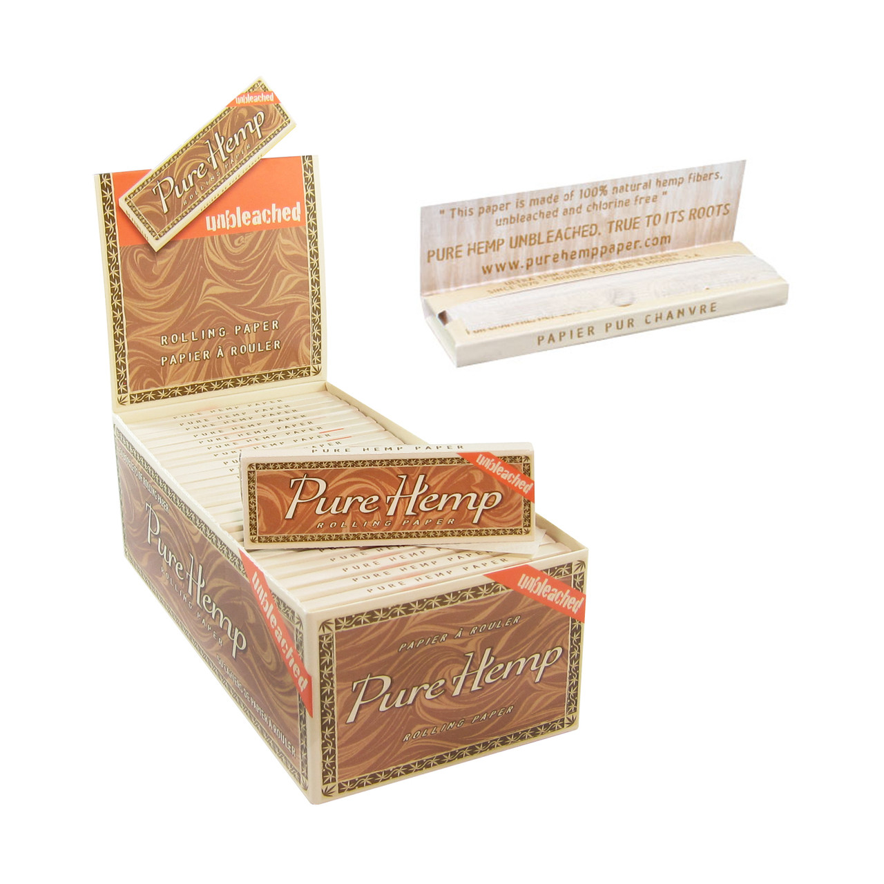 Pure Hemp Wide Unbleached Rolling Papers