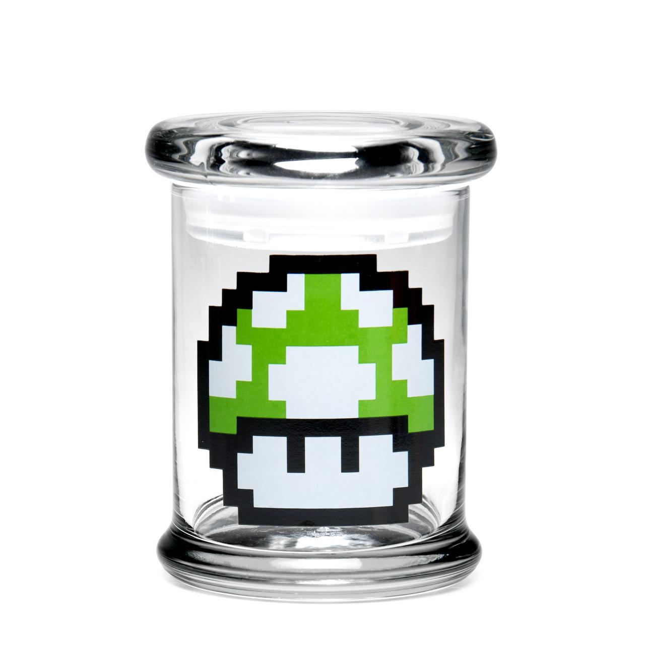 420 Science Medium Pop-Top Jar - 1-Up Mushroom