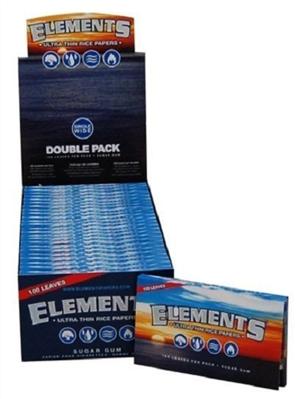 Elements Ultra Single Width Rice Papers - 25/box Double Pack