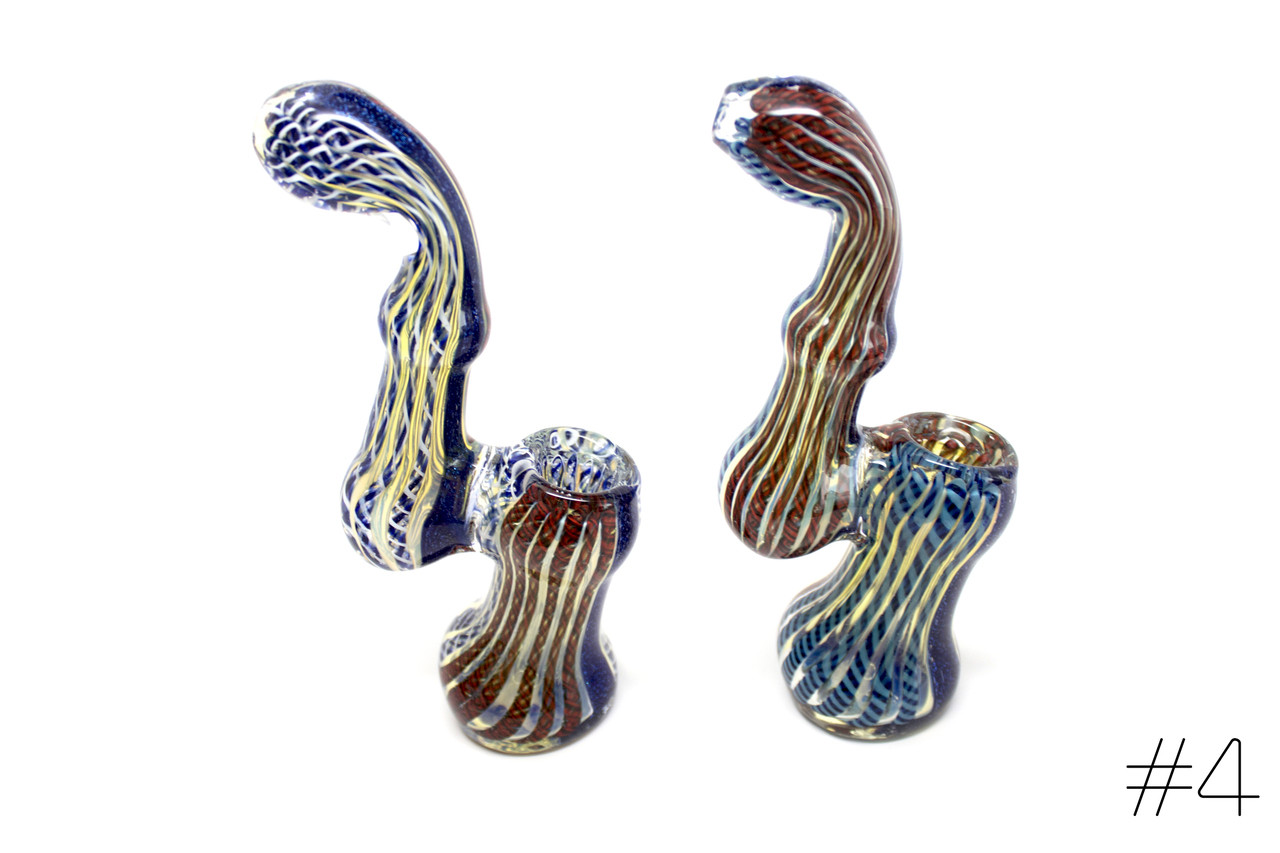 Imported Glass Large Dicro Bubbler
