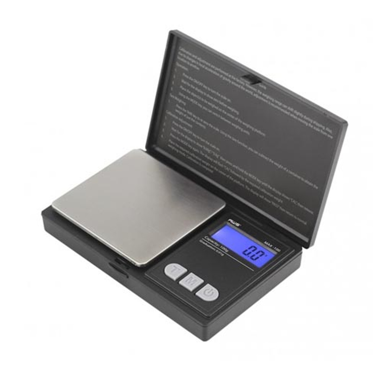 AWS Digital Scale MAX-100 (100g x 0.01g) Flip-Open Cover - Black