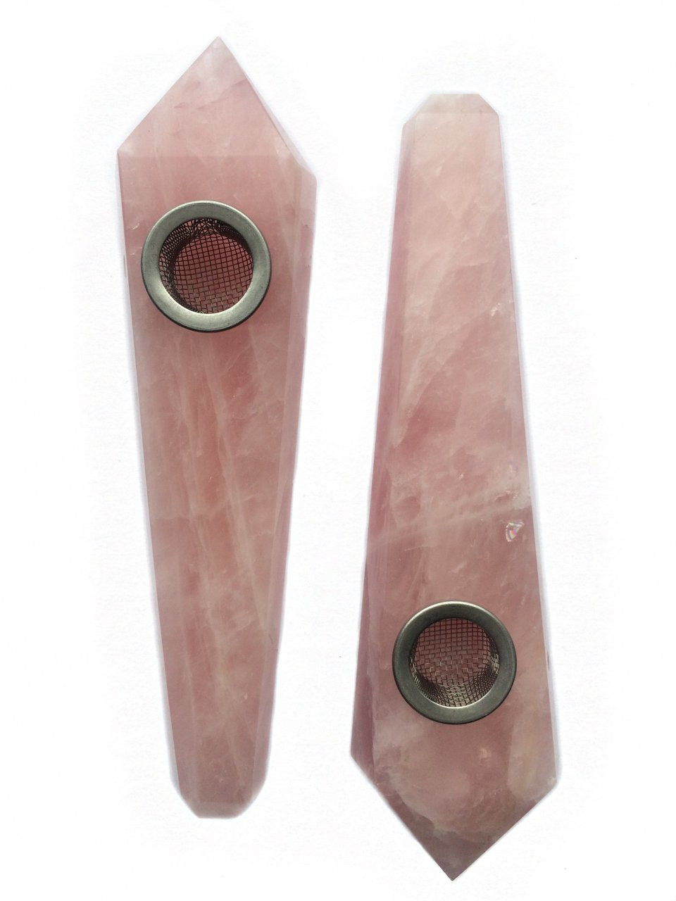 Crystal Pipe - Phoebe (Rose Quartz)