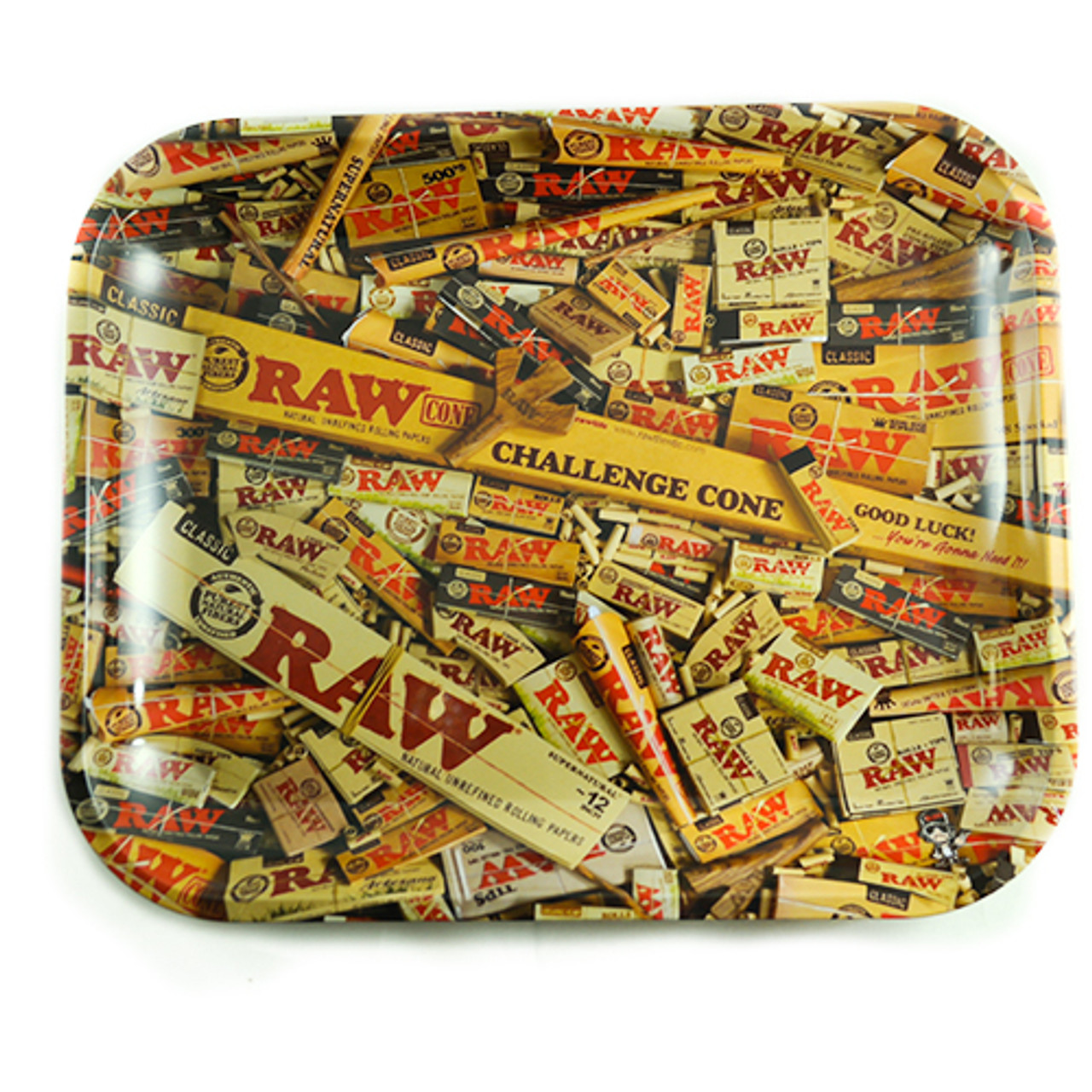 Raw Rolling Tray - Rolling Paper Design