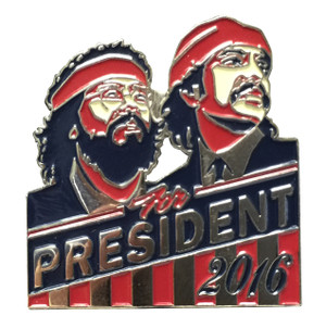 Herbivore Hat Pins - Cheech & Chong for President