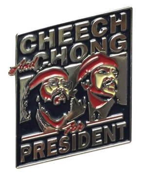 Herbivore Hat Pins - Cheech & Chong for President (Diamond)