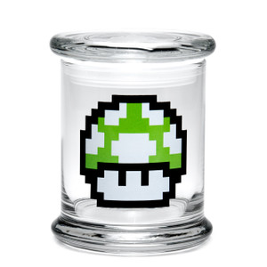 420 Science LG Pop-Top Jar - 1-Up Mushroom